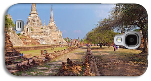 Ancient Galaxy S4 Cases - Ancient Ruins Of A Temple, Wat Phra Si Galaxy S4 Case by Panoramic Images