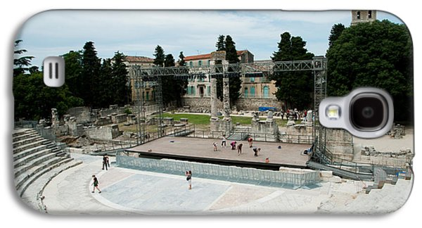 Arles Galaxy S4 Cases - Ancient Theatre Built 1st Century Bc Galaxy S4 Case by Panoramic Images