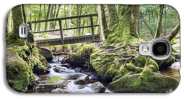Tree Roots Galaxy S4 Cases - Ancient Woodland at Golitha Falls Galaxy S4 Case by Helen Hotson