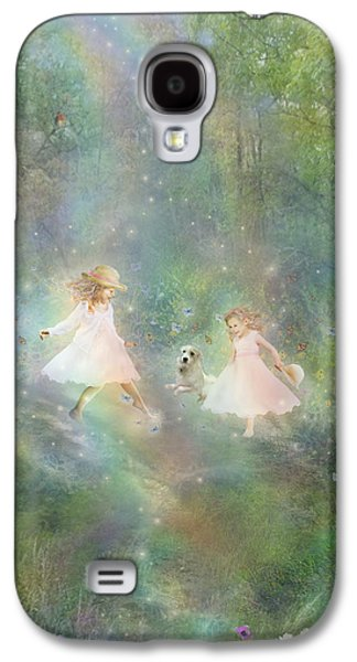 Little Girls Mixed Media Galaxy S4 Cases - And They Danced And Danced Galaxy S4 Case by Carrie Jackson