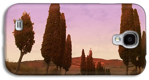 Tuscan Sunset Paintings Galaxy S4 Cases - Andiamo Tramonto Galaxy S4 Case by David Zimmerman