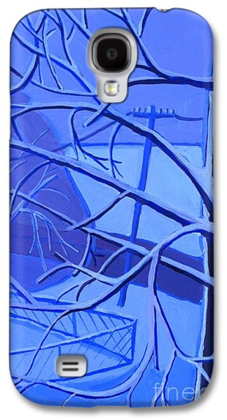 New England Snow Scene Paintings Galaxy S4 Cases - Andreas Snow Day Galaxy S4 Case by Debra Bretton Robinson