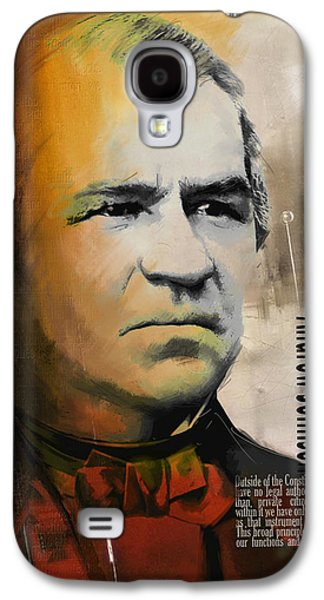 James Buchanan Galaxy S4 Cases - Andrew Johnson Galaxy S4 Case by Corporate Art Task Force