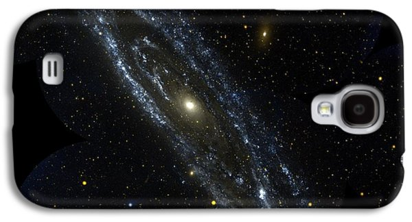 Constellations Paintings Galaxy S4 Cases - Andromeda Galaxy Galaxy S4 Case by Celestial Images