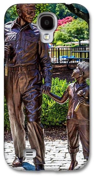 Andy Griffith Show Galaxy S4 Cases - Andy and Opie statue Galaxy S4 Case by Arturo Vazquez