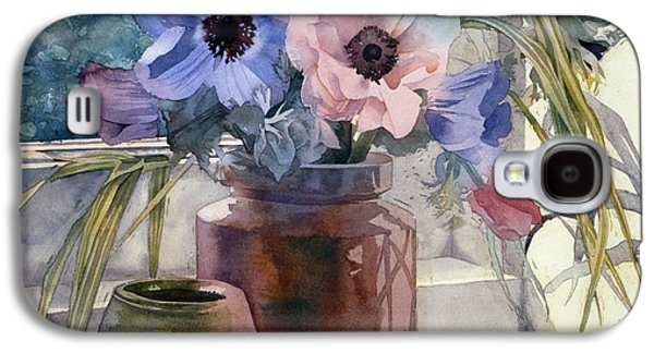 """indoor"" Still Life Photographs Galaxy S4 Cases - Anemones Galaxy S4 Case by Julia Rowntree"