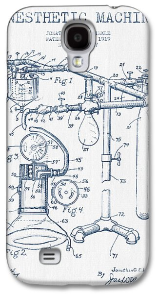 Ink Digital Galaxy S4 Cases - Anesthetic Machine patent from 1919 - Blue Ink Galaxy S4 Case by Aged Pixel
