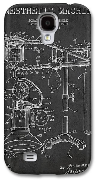 Technical Digital Art Galaxy S4 Cases - Anesthetic Machine patent from 1919 - Dark Galaxy S4 Case by Aged Pixel
