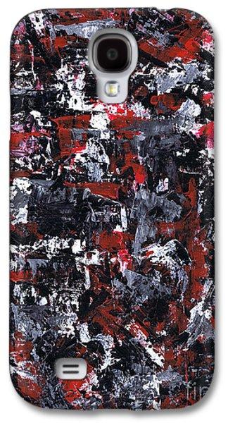 Brain Paintings Galaxy S4 Cases - Aneurysm 1 - Left Galaxy S4 Case by Kamil Swiatek