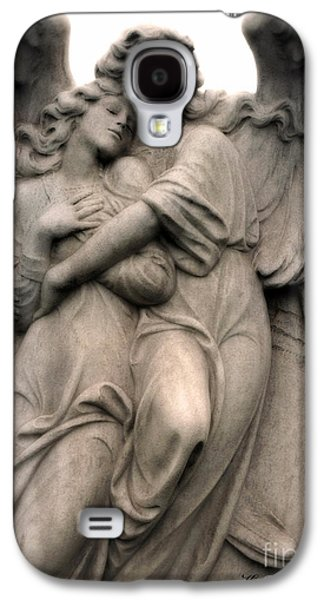Embracing Galaxy S4 Cases - Angel Photography Guardian Angels Loving Embrace Galaxy S4 Case by Kathy Fornal