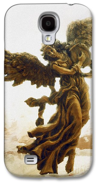 Bronze Galaxy S4 Cases - Angel Art - Impressionistic Dreamy Surreal Angel Art  Galaxy S4 Case by Kathy Fornal
