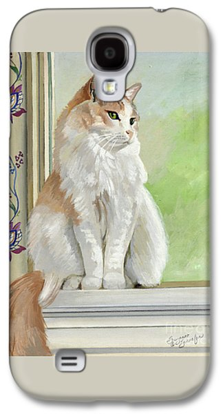 Orange Tabby Paintings Galaxy S4 Cases - Angel Daydreams Galaxy S4 Case by Suzanne Schaefer