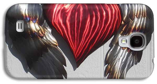 Abstracts Sculptures Galaxy S4 Cases - Angel Heart wall sculpture Galaxy S4 Case by Robert Blackwell