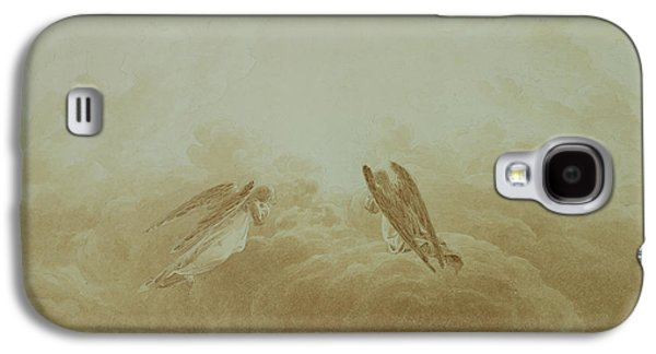 Gothic Paintings Galaxy S4 Cases - Angel in Prayer Galaxy S4 Case by Caspar David Friedrich