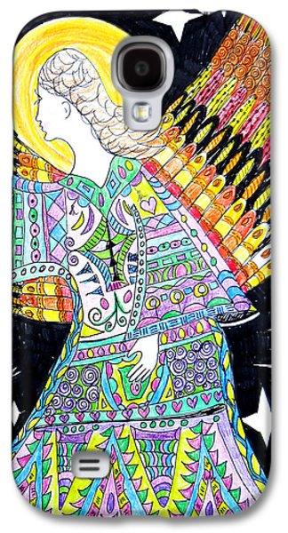 Kim Drawings Galaxy S4 Cases - Angel Galaxy S4 Case by Keleki Love