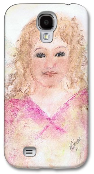 Religious Pastels Galaxy S4 Cases - Angel Melissa Galaxy S4 Case by Karen J Jones