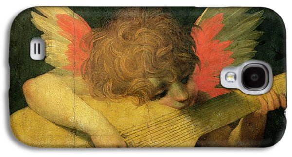Lute Paintings Galaxy S4 Cases - Angel Musician Galaxy S4 Case by Giovanni Battista Rosso Fiorentino