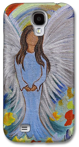 Spiritual Portrait Of Woman Mixed Media Galaxy S4 Cases - Angel of Devotion Galaxy S4 Case by Ella Kaye Dickey