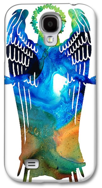 Religious Galaxy S4 Cases - Angel of Light - Spiritual Art Painting Galaxy S4 Case by Sharon Cummings