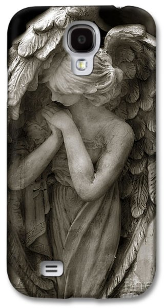 Best Sellers -  - Fantasy Photographs Galaxy S4 Cases - Angel Photography - Dreamy Spiritual Angel Art - Guardian Angel Art In Prayer  Galaxy S4 Case by Kathy Fornal