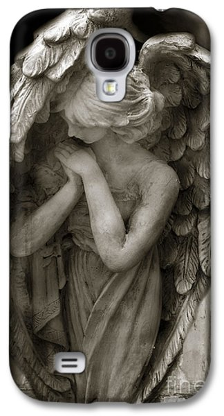 Angel Galaxy S4 Cases - Angel Photography - Dreamy Spiritual Angel Art - Guardian Angel Art In Prayer  Galaxy S4 Case by Kathy Fornal