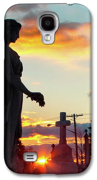 Photographs With Red. Galaxy S4 Cases - Angel Silhouette in Burst of Colors Galaxy S4 Case by Gothicolors Donna Snyder