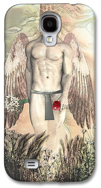 Angels Drawings Galaxy S4 Cases - Angel transparent By Quim Abella Galaxy S4 Case by Joaquin Abella