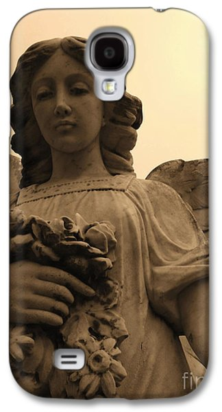 Usa Sculptures Galaxy S4 Cases - Angel With Flowers Galaxy S4 Case by Nathan Little