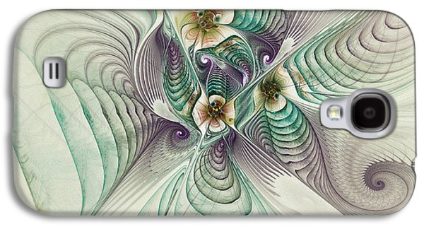 Surreal Geometric Galaxy S4 Cases - Angelic Entities Galaxy S4 Case by Deborah Benoit