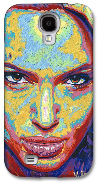 Arango Galaxy S4 Cases - Angelina Galaxy S4 Case by Maria Arango