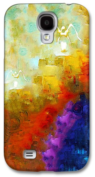 Religious Galaxy S4 Cases - Angels Among Us - Emotive Spiritual Healing Art Galaxy S4 Case by Sharon Cummings