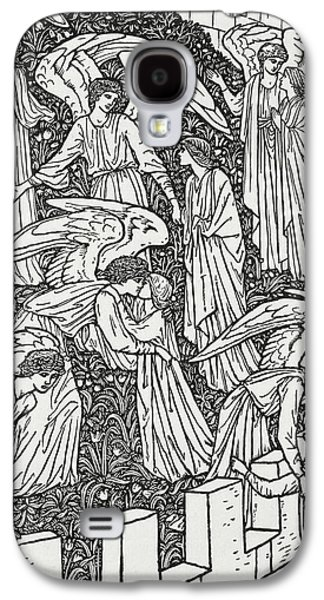 Decorate Galaxy S4 Cases - Angels behind the inner sanctuary Galaxy S4 Case by William Morris