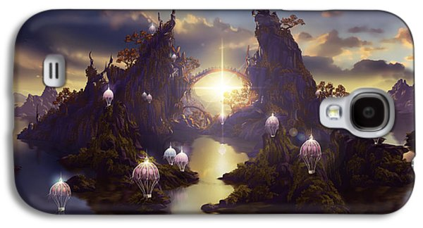 Phantasie Digital Art Galaxy S4 Cases - Angels Passage Galaxy S4 Case by Cassiopeia Art