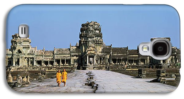 Buddhist Monk Galaxy S4 Cases - Angkor Wat Cambodia Galaxy S4 Case by Panoramic Images