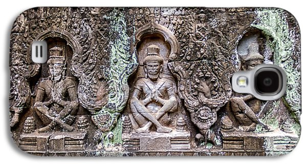 Relief Sculpture Galaxy S4 Cases - Angkor Wat Galaxy S4 Case by Stylianos Kleanthous