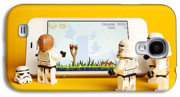 Lego Digital Art Galaxy S4 Cases - Angry Birds Storm Troopers Galaxy S4 Case by Samuel Whitton