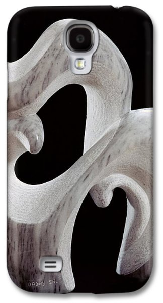 Abstracts Sculptures Galaxy S4 Cases - Animal and its Cub Galaxy S4 Case by Shimon Drory