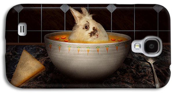 Animal - Bunny - There's A Hare In My Soup Galaxy S4 Case by Mike Savad