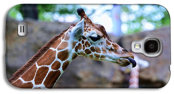 Animal - Giraffe - Sticking Out The Tounge Galaxy S4 Case by Paul Ward
