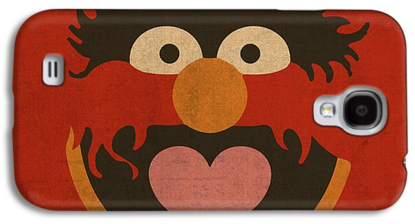 Animal Mixed Media Galaxy S4 Cases - Animal Muppet Vintage Minimalistic Illustration On Worn Distressed Canvas Series No 008 Galaxy S4 Case by Design Turnpike