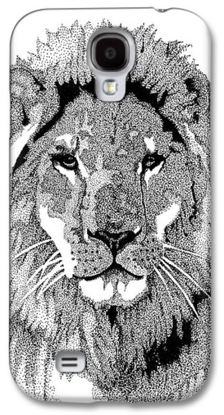 Animals Mixed Media Galaxy S4 Cases - Animal Prints - Proud Lion - By Sharon Cummings Galaxy S4 Case by Sharon Cummings