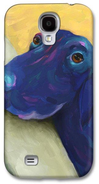 Labrador Retriever Digital Galaxy S4 Cases - Animals Dogs Labrador Retriever Begging Galaxy S4 Case by Ann Powell