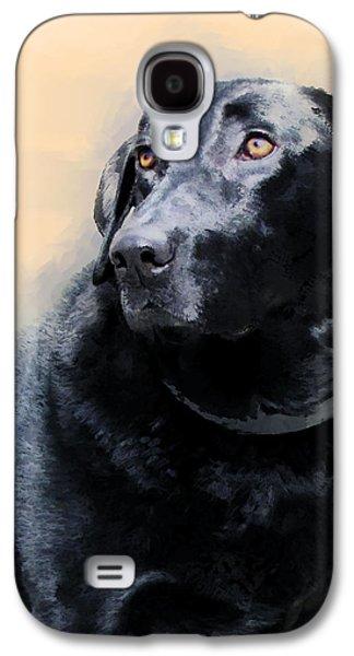 Labrador Retriever Digital Galaxy S4 Cases - animals - dogs- Loyal Friend Galaxy S4 Case by Ann Powell