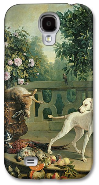 Growling Galaxy S4 Cases - Animals, Flowers And Fruits Oil On Canvas Galaxy S4 Case by Alexandre-Francois Desportes