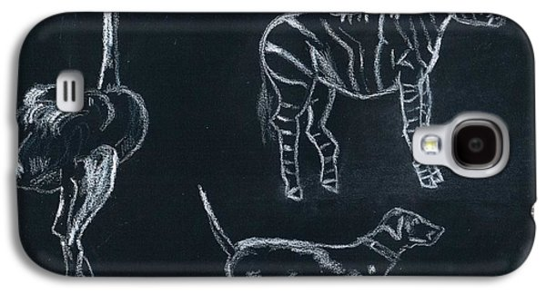 Mix Medium Drawings Galaxy S4 Cases - Animals Galaxy S4 Case by Matteo TOTARO