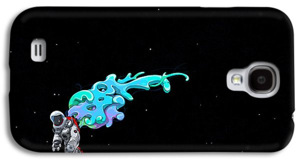 Animation Photographs Galaxy S4 Cases - Animated Space Man Galaxy S4 Case by Gianfranco Weiss