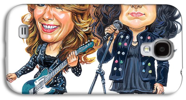 Ann And Nancy Wilson Of Heart Galaxy S4 Case by Art