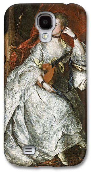 Contemplative Photographs Galaxy S4 Cases - Ann Ford Later Mrs Philip Thicknesse, 1760 Oil On Canvas Galaxy S4 Case by Thomas Gainsborough