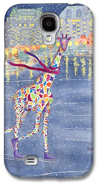 Purple Paintings Galaxy S4 Cases - Annabelle on Ice Galaxy S4 Case by Rhonda Leonard
