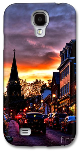Main Street Galaxy S4 Cases - Annapolis Night Galaxy S4 Case by Olivier Le Queinec